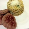 Patlıcanlı buğday pilavı                                       4 porsiyon 267 kalori