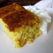 Portakallı bademli kek